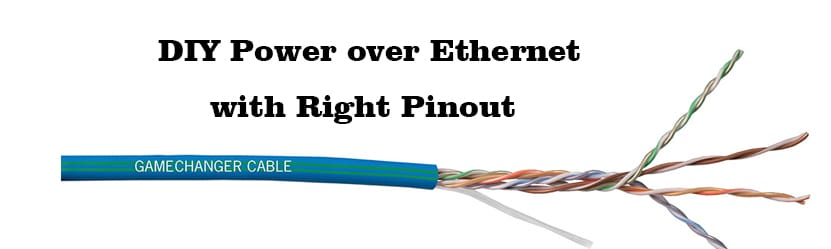 DIY Power over Ethernet with Right Pinout